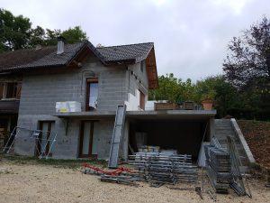 photo travaux création balcon terrasse